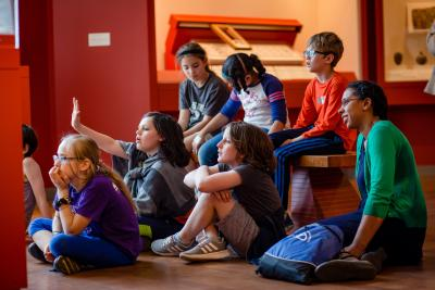 students at the art museum